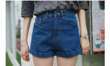 Load image into Gallery viewer, 5 Colors High Waist Slim Fit Jean Shorts SP166234