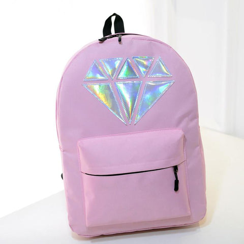 5 Colors Hologram Laser Diamond Pattern Fashion Backpack SP166999