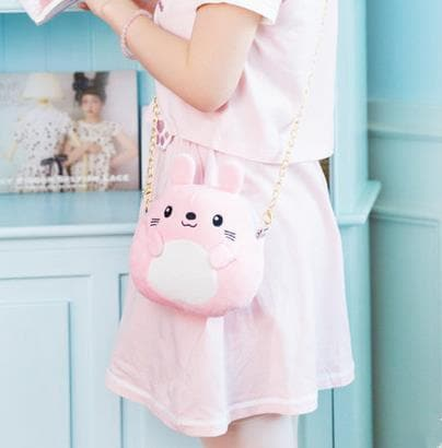 6f1bdee78a072 {Free Shipping} 5 Colors Kawaii Animal Mini Shoulder Bag SP1710164
