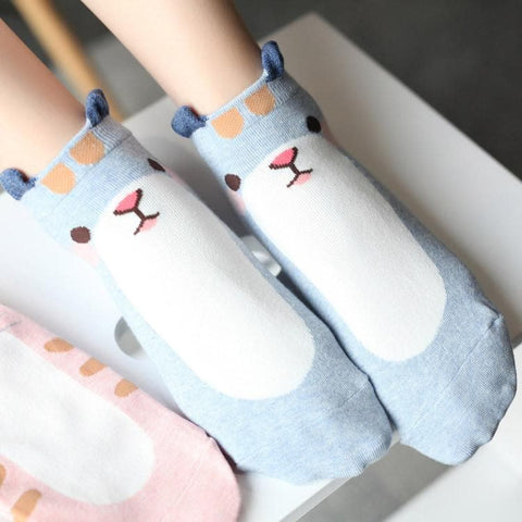 5 Colors Kawaii Cartoon Printing Socks SP167748