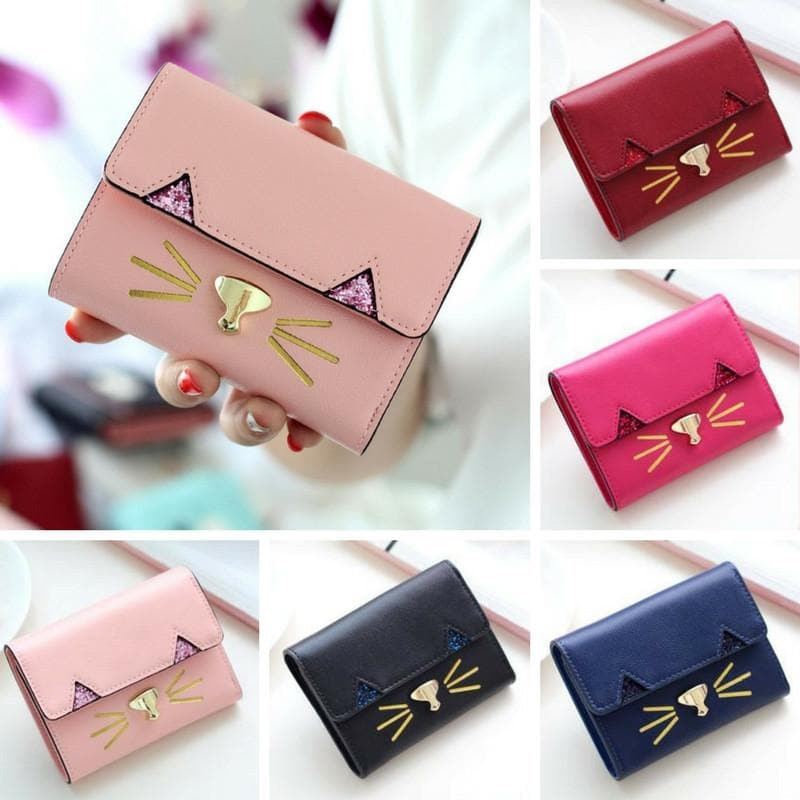 5 Colors Kawaii Kitten 3 Fold Wallet SP178719
