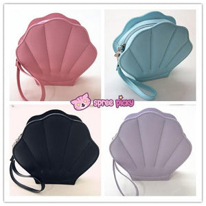 Purple/Green/Pink/Black/White Lolita Mermaid Sea Shell Bag Cross Body Bag SP130290 - SpreePicky  - 2
