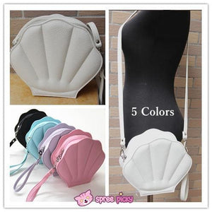 Purple/Green/Pink/Black/White Lolita Mermaid Sea Shell Bag Cross Body Bag SP130290 - SpreePicky  - 1