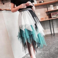 5 Colors Pastel Irregular Gauze Skirt S12673