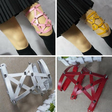 Load image into Gallery viewer, 5 Colors Punk Pentagram Faux Leather Garter SP168520