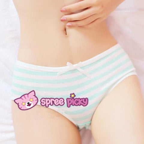 5 Colors Sweet Bowknot Stripe Undies SP153286