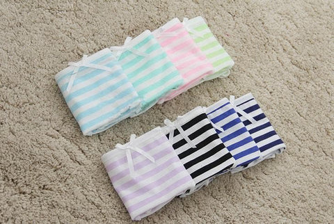 5 Colors Sweet Bowknot Stripe Undies SP153286 - SpreePicky  - 5