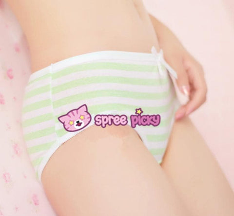 5 Colors Sweet Bowknot Stripe Undies SP153286 - SpreePicky  - 7