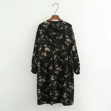 Load image into Gallery viewer, Sweet Floral Long Sleeve Dress SP168031