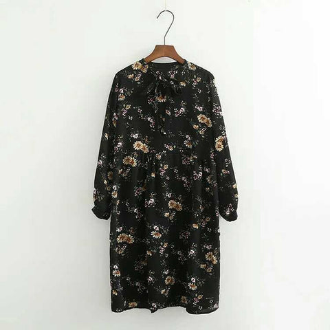 Sweet Floral Long Sleeve Dress SP168031