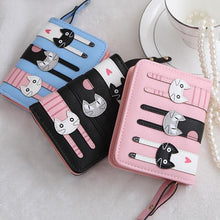 Load image into Gallery viewer, 5 Colors Trio Cute Kittens Wallet SP178700