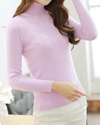 5 Colors Turtleneck Sweater SP152605 - SpreePicky  - 4
