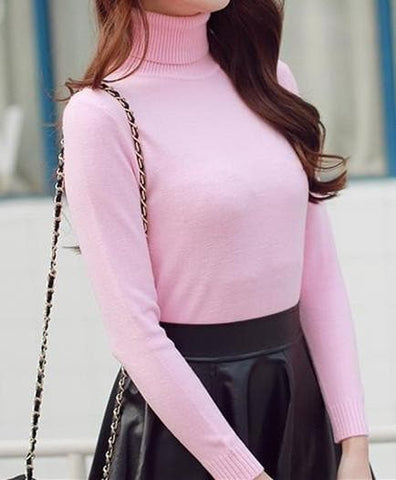 5 Colors Turtleneck Sweater SP152605 - SpreePicky  - 6