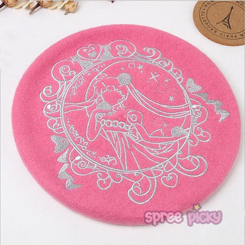 5 Colours [Sailor Moon] Princess Serenity Beret Hat SP164718