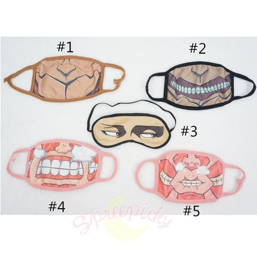 5 Styles Chibi Atack On Titan Dust Mask or Levi's Eyes Blinder SP141361 - SpreePicky  - 1