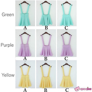 [ 6 Colors] 3 Styles Candy Suspender Skirt SP151886 - SpreePicky  - 2