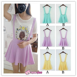 [ 6 Colors] 3 Styles Candy Suspender Skirt SP151886 - SpreePicky FreeShipping