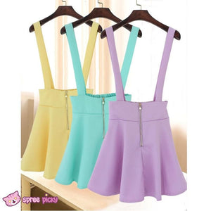 [ 6 Colors] 3 Styles Candy Suspender Skirt SP151886 - SpreePicky  - 4