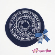 Load image into Gallery viewer, 6 Colors Card Captor Sakura Magic Circle Beret Cap with Little Bow SP151781 - SpreePicky  - 10