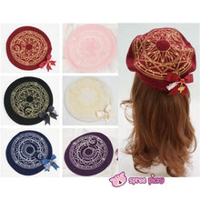 Load image into Gallery viewer, 6 Colors Card Captor Sakura Magic Circle Beret Cap with Little Bow SP151781 - SpreePicky  - 1
