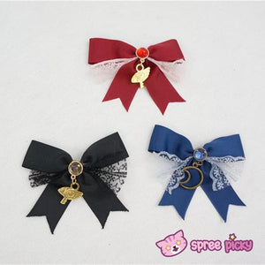 6 Colors Card Captor Sakura Magic Circle Beret Cap with Little Bow SP151781 - SpreePicky  - 3
