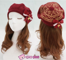 Load image into Gallery viewer, 6 Colors Card Captor Sakura Magic Circle Beret Cap with Little Bow SP151781 - SpreePicky  - 5