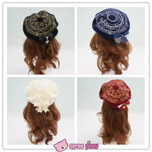 Load image into Gallery viewer, 6 Colors Card Captor Sakura Magic Circle Beret Cap with Little Bow SP151781 - SpreePicky  - 4