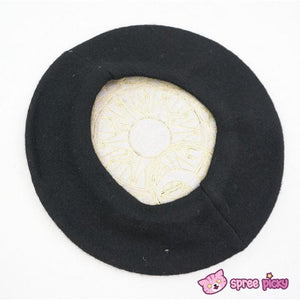6 Colors Card Captor Sakura Magic Circle Beret Cap with Little Bow SP151781 - SpreePicky  - 7
