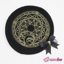 Load image into Gallery viewer, 6 Colors Card Captor Sakura Magic Circle Beret Cap with Little Bow SP151781 - SpreePicky  - 8