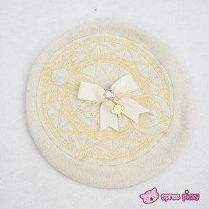 6 Colors Card Captor Sakura Magic Circle Beret Cap with Little Bow SP151781 - SpreePicky  - 9