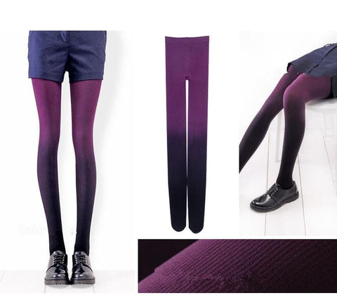 6 Colors Gradual Color Tights SP153813 - SpreePicky  - 3