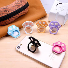 Load image into Gallery viewer, 6 Colors Kawaii Cat Paw Phone Ring Hooks SP1710134