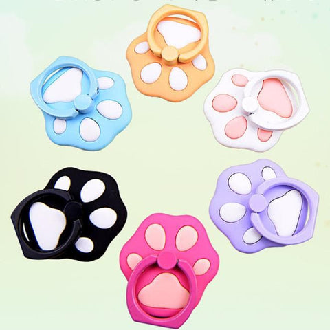 6 Colors Kawaii Cat Paw Phone Ring Hooks SP1710134