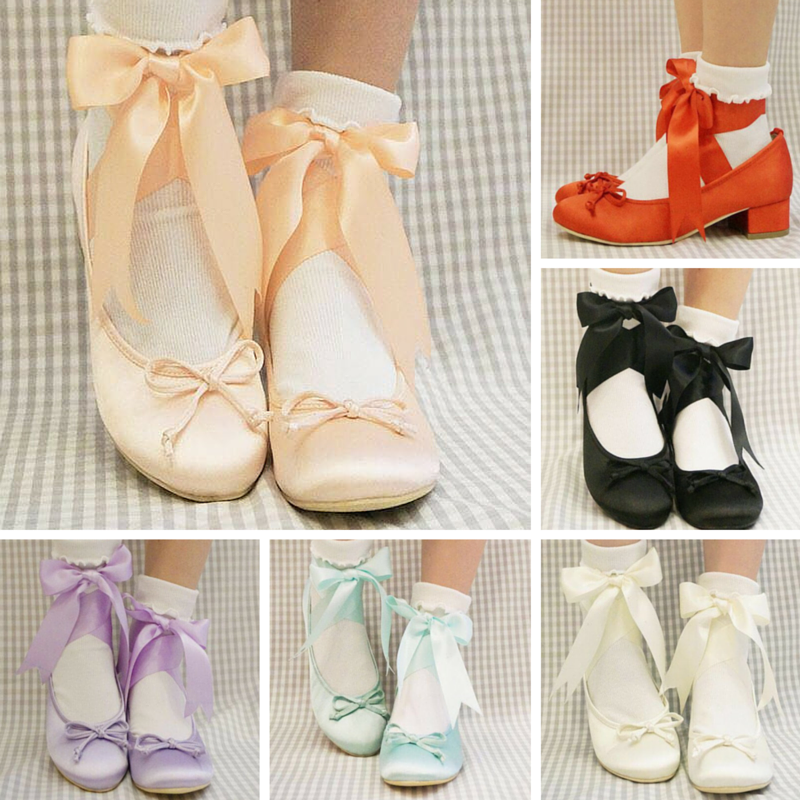 6 Colors Elegant Ribbon Ballet Shoes SP165648