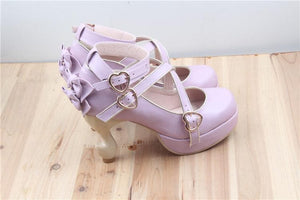 6 Colors Lolita Table Leg High Heels Platform Shoes SP154528 - SpreePicky  - 9