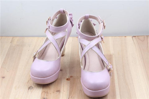 6 Colors Lolita Table Leg High Heels Platform Shoes SP154528 - SpreePicky  - 10