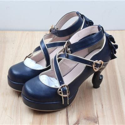 6 Colors Lolita Table Leg High Heels Platform Shoes SP154528 - SpreePicky  - 5