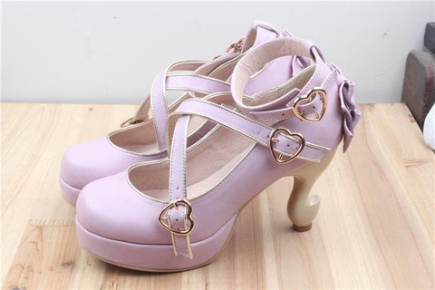 6 Colors Lolita Table Leg High Heels Platform Shoes SP154528 - SpreePicky  - 8