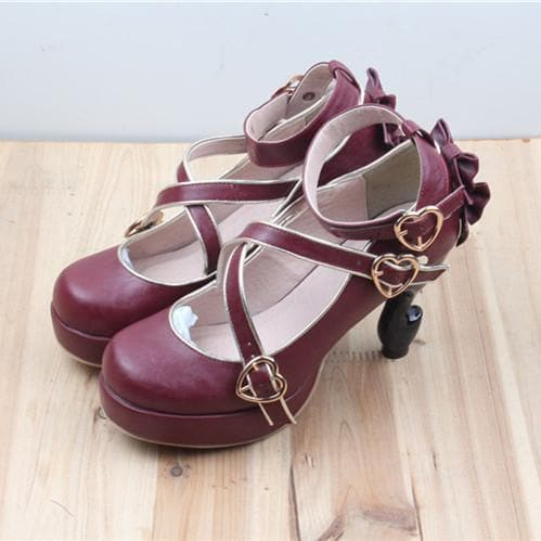 6 Colors Lolita Table Leg High Heels Platform Shoes SP154528 - SpreePicky  - 7