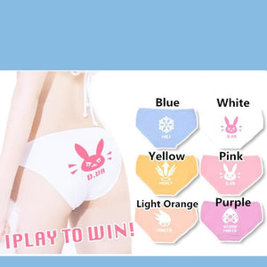 6 Colors Overwatch D.VA Undies SP168187