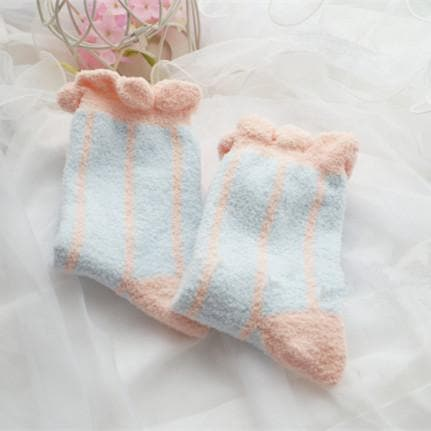 6 Colors Pastel Candy Fleece Socks SP164905 - SpreePicky  - 6