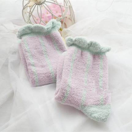 6 Colors Pastel Candy Fleece Socks SP164905 - SpreePicky  - 8