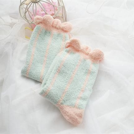 6 Colors Pastel Candy Fleece Socks SP164905 - SpreePicky  - 5