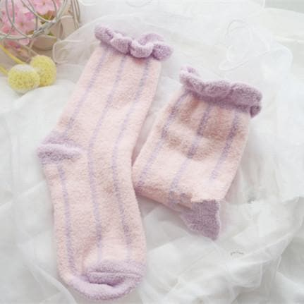 6 Colors Pastel Candy Fleece Socks SP164905 - SpreePicky  - 3
