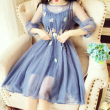 6 Colors Sweet Fairy Flower Dress SP1812262
