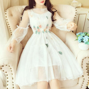Final Stock! 6 Colors Sweet Fairy Flower Dress SP1812262