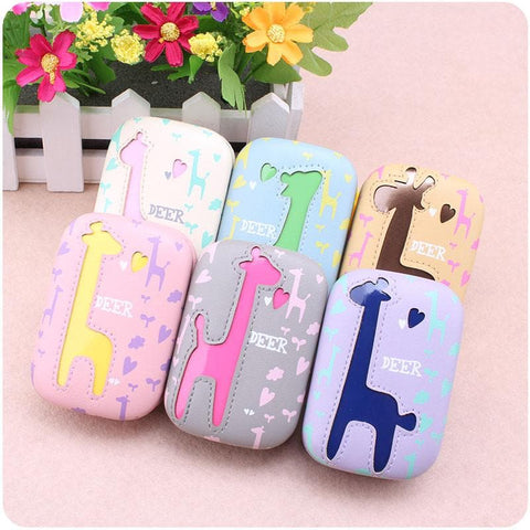 6 colors Cute Giraffe Contact Lenses Case SP153084 - SpreePicky  - 3