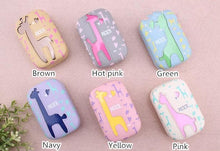 Load image into Gallery viewer, 6 colors Cute Giraffe Contact Lenses Case SP153084 - SpreePicky  - 2