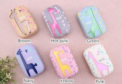 6 colors Cute Giraffe Contact Lenses Case SP153084 - SpreePicky  - 2