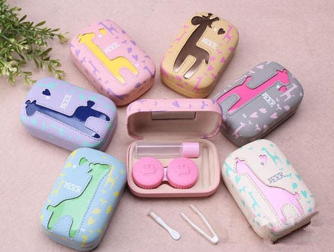 6 colors Cute Giraffe Contact Lenses Case SP153084 - SpreePicky  - 5